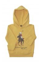 Yellow hoodie with iconic teddy bear, Polo Ralph Lauren