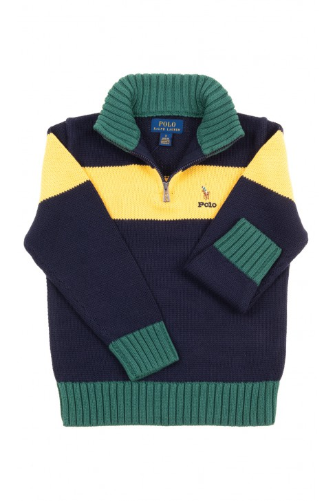 Sweater with stand-up collar for boys, Polo Ralph Lauren