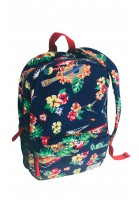 Navy blue backpack with floral motif, Polo Ralph Lauren