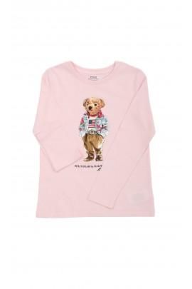 Pink long-sleeve with a teddy bear Polo -Bear, Polo Ralph Lauren