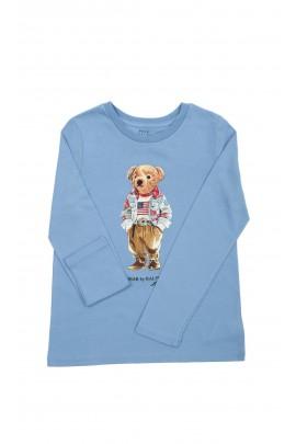 Blue longsleeve for kids with teddy bear, Polo Ralph Lauren