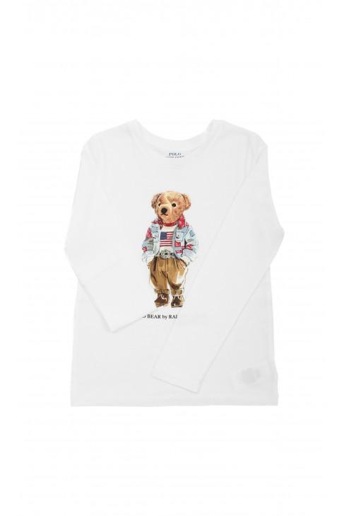 White longsleeve with Polo - Bear, Polo Ralph Lauren