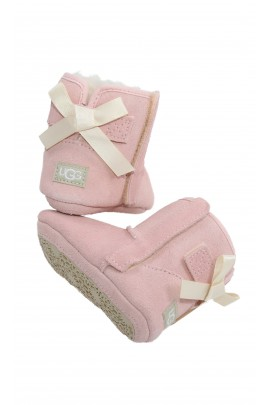 Baby pink boots for girls, UGG