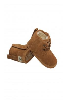Brown baby booties, UGG