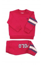 Pink baby tracksuit for girls, Ralph Lauren