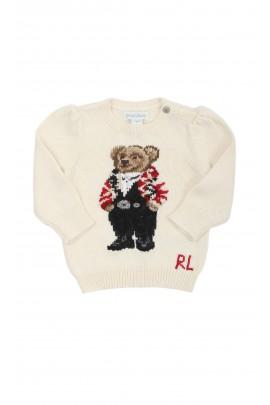 Ecrue baby sweater for girls, Ralph Lauren