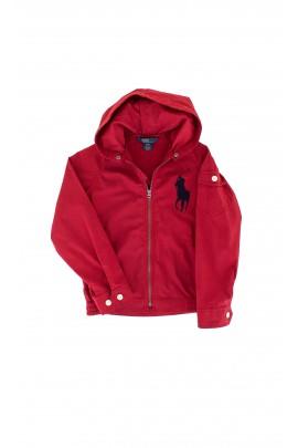 Red hooded coat, Polo Ralph Lauren