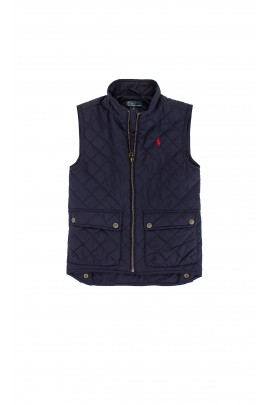 Sleeveless quilted navy blue coat, Ralph Lauren