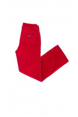 Red corduroy trousers with a green horse, Polo Ralph Lauren
