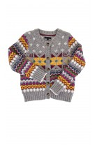 Grey sweater with colourful patterns, Tommy Hilfiger