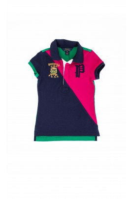 Green-navy blue-pink polo shirt, Polo Ralph Lauren