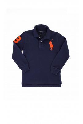 Navy blue long-sleeved polo shirt, Polo Ralph Lauren