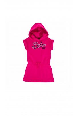 Pink hooded polo dress, Ralph Lauren