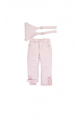 Pink ski trousers with braces, Tartine et Chocolat