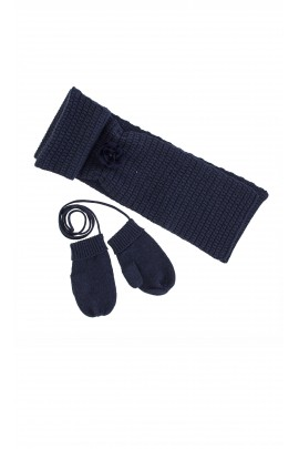 Navy blue set: scarf and gloves, Tartine et Chocolat