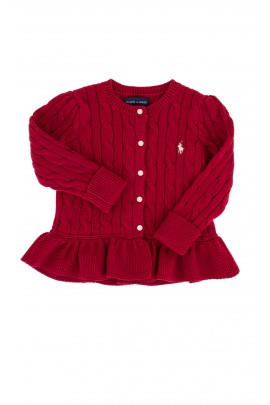 Red frilled sweater, Ralph Lauren