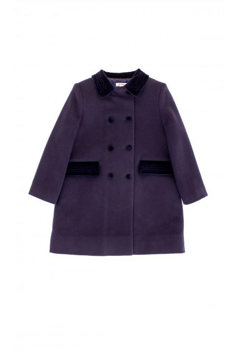 Navy blue, fleece insulated coat, Ferrari Mariella