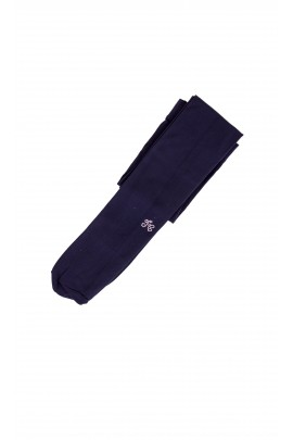 Navy blue, elastic girl's tights, Tartine et Chocolat