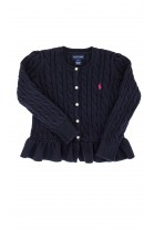 Navy blue frilled sweater, Ralph Lauren