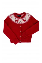 Red, Christmas, fastened sweater, finished with rib Polo Ralph Lauren