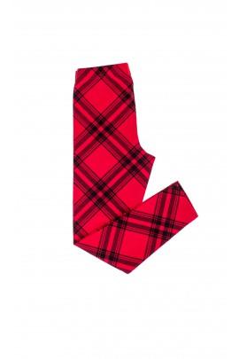 Girls leggings in red-and-black checker, Polo Ralph Lauren