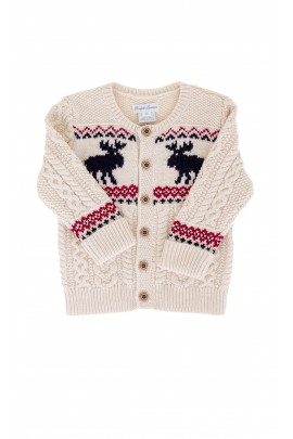 Ecru sweater with a festive pattern, Ralph Lauren