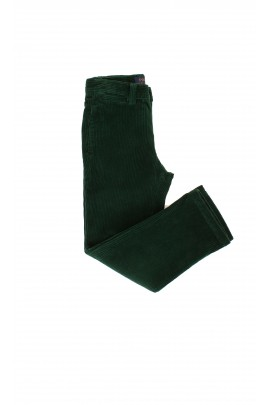 Green velour boys trousers, Polo Ralph Lauren