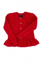 Red cardigan with frill, Polo Ralph Lauren