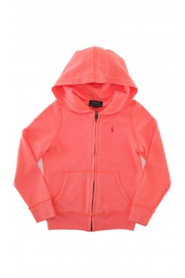 Orange hooded sweatshirt, Polo Ralph Lauren
