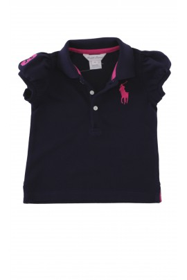 Navy blue summer polo blouse, Ralph Lauren
