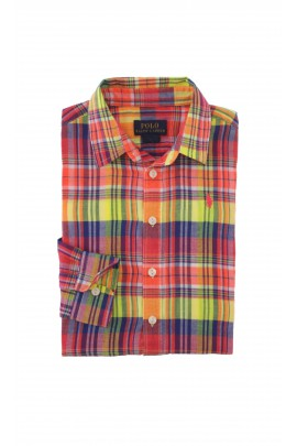 Shirt in yellow-and-orange checker, Polo Ralph Lauren