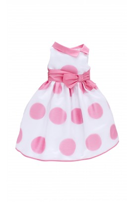 White dress in big polka dot, Colorichiari