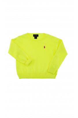 Lemon yellow girls sweater, Polo Ralph Lauren