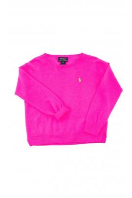 Pink (garish) girls sweater, Polo Ralph Lauren
